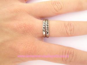 Coppia di anelli libertà e saggezza