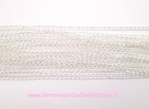 1mt. catena a maglia ritorta color silver 5,5x3,5mm.