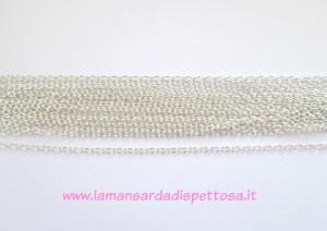 1mt. catenina maglia ovale silver 3.5x2.5mm.