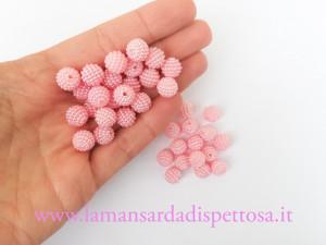 5 perle tonde rosa 10mm.