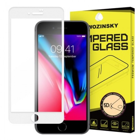 Sticla securizata IPHONE 8 PLUS/Iphone 7 PLUS -Wozinsky PRO + 5D Full Glue ( margini albe)