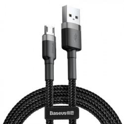 Cablu de date Baseus Cafule micro USB 2M- Negru cu gri