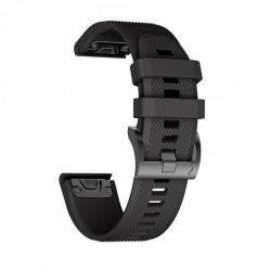 Curea Garmin Fenix 5X PLUS -Tech Protect Smooth-Neagra