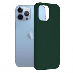 Husa Apple iPhone 13 Pro Max -Soft Edge Silicone Dark Green