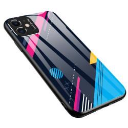 Husa Iphone 11 -Color Glass-cu sticla securizata- Model colorat 4
