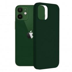 Husa iPhone 12/12 Pro -Soft Edge Silicone Dark Green