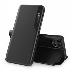 Husa Samsung Galaxy A22 4G -Eco Leather View Case-Neagra