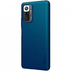 Husa Xiaomi Redmi Note 10 PRO -Nillkin Super Frosted Shield Case Albastra