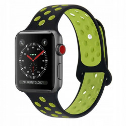 Curea Apple Watch 6 44 MM-Tech Protect Softband-Black/Lime