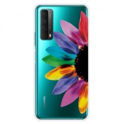 Husa Huawei P Smart 2021- Matt Printing Soft TPU - Petale colorate