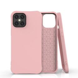 Husa Iphone 12 PRO MAX -Soft Color Case flexible gel-roz