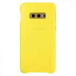 Husa originala Samsung Galaxy S10E-Samsung Leather Cover-Galbena