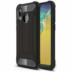 Husă Samsung Galaxy A20e -Hybrid Armor Tough Rugged -Neagra