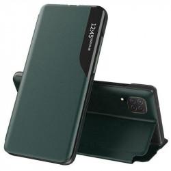 Husa Samsung Galaxy A22 5G -Eco Leather View Case-Dark Green