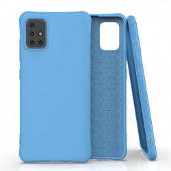 Husa Samsung Galaxy A51 -Soft Color Case flexible gel-albastra