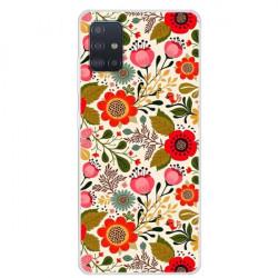 Husa Samsung Galaxy A71- Matt Printing Soft TPU Flowers
