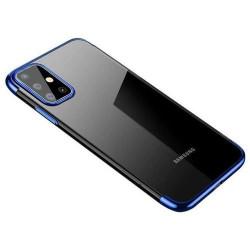 Husa Samsung Galaxy A72 4G/5G -Clear Color case gel-Margine albastra