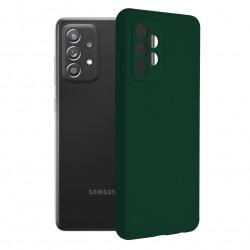 Husa Samsung Galaxy A72 4G/5G -Soft Edge Silicone Dark Green