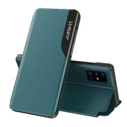 Husa Samsung Galaxy A72 -Eco Leather View Case-Verde inchis