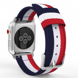 Curea Apple Watch SE 44MM-Tech Protect Welling- Navy/Red