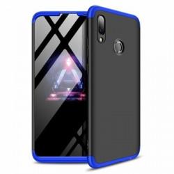Husa Huawei P Smart 2019-GKK 360 Front and Back Case Full Body Cover -Negru cu Albastru