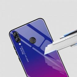 Husa Huawei P Smart 2019-Gradient Glass Durable Cover din sticla securizata 9H-black-blue