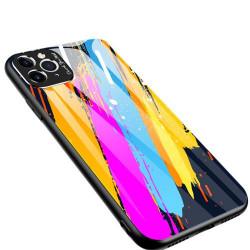 Husa Iphone 11 PRO MAX -Color Glass-cu sticla securizata- pattern 3
