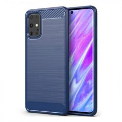 Husa Samsung Galaxy S20 -Carbon Series- Albastra
