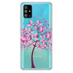 Husa Samsung Galaxy S20 Plus- Matt Printing Soft TPU- Tree- Transparenta