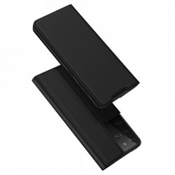 Husa Samsung Galaxy S21 Ultra-Dux Ducis Skin Pro Bookcase-Neagra