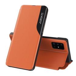 Husa Xiaomi Redmi Note 10/10s -Eco Leather View Case-Orange