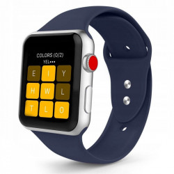 Curea Apple Watch 3 42MM-Tech Protect Iconband-Midnight Blue