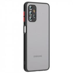Husa Samsung Galaxy A32- Colored buttons case- Black