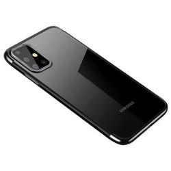 Husa Samsung Galaxy A72 4G/5G -Clear Color case gel-Margine Neagra