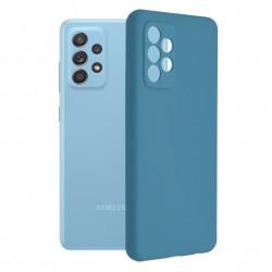Husa Samsung Galaxy A72 4G/5G -Soft Edge Silicone Blue