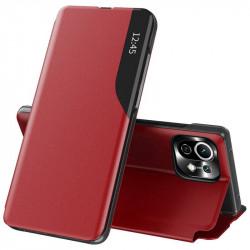 Husa Xiaomi Mi 11 Lite -Eco Leather View Case-Red