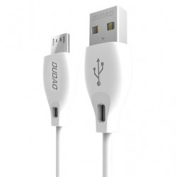 Cablu de date Dudao USB / Micro USB 2.4 A 1m white