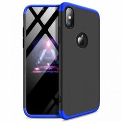 Husa Iphone XS MAX-GKK 360 Front and Back Case Full Body Cover -Negru cu Albastru