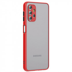 Husa Samsung Galaxy A32- Colored buttons case- Red
