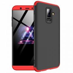 Husa Samsung Galaxy A6 Plus -GKK 360 Front and Back Case Full Body Cover - Negru cu rosu