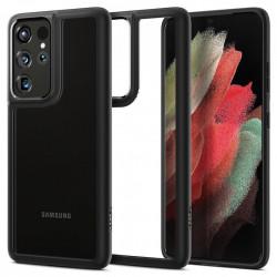 Husa Samsung Galaxy S21 Ultra - Spigen Ultra Hybrid-Negru Mat