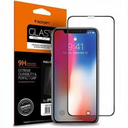 Sticla securizata Iphone XR -Spigen Glass FC-margine neagra