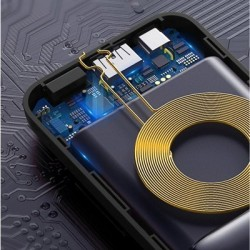 Baterie externa Baseus Mini S Bracket Power Bank 10000mAh- Neagra