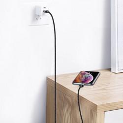 Cablu de date Baseus Zinc magnetic USB/ Micro USB 2.4A 1m black