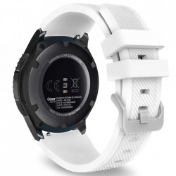 Curea Samsung Galaxy Watch 46MM-Tech Protect Smoothband-White