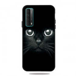 Husa Huawei P Smart 2021- Matt Printing Soft TPU Shell Cat- Black