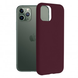 Husa iPhone 11 Pro -Soft Edge Silicone Plum