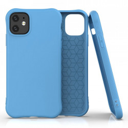 Husa Iphone 11 -Soft Color Case flexible gel-blue