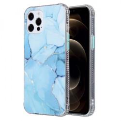 Husa Iphone 12 PRO / Iphone 12 - Coloured Glaze Marble Blue