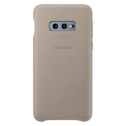 Husa originala Samsung Galaxy S10E-Samsung Leather Cover-Gri